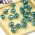 Beads, Selenial Crystal, Crystal, Dark green AB, Faceted Discs, 8mm x 8mm x 6mm, 10 Beads, [ZZC106]